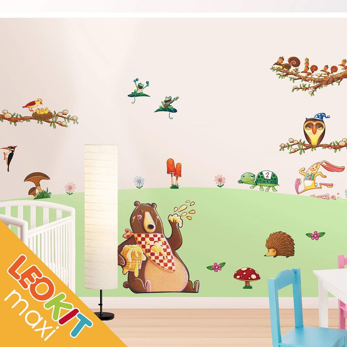 adesivo murale bambino stickers leokit maxi il parco. Black Bedroom Furniture Sets. Home Design Ideas